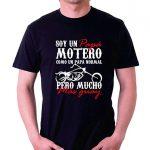 camiseta negra motor para motos